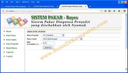 Manamen Tambah dan Ubah Data Aturan pada Sistem Pakar berbasis Web dengan PHP MySQL