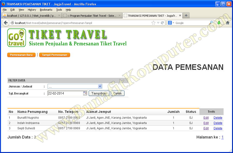 source code penjualan tiket travel
