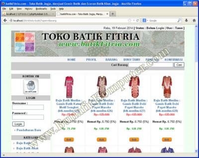 Katalog Produk Barang - Website E-Commerce Sistem Informasi Penjualan Online
