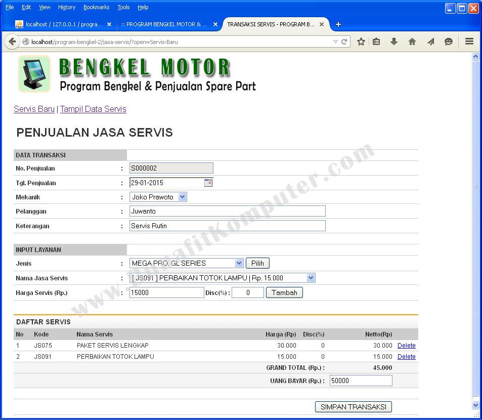 Sistem Informasi Manajemen Bengkel Bunafit Komputer