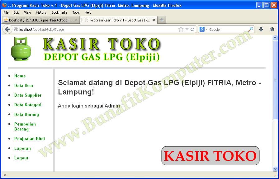 Program KASIR TOKO – Aplikasi Penjualan Pembelian dg PHP dan MySQL
