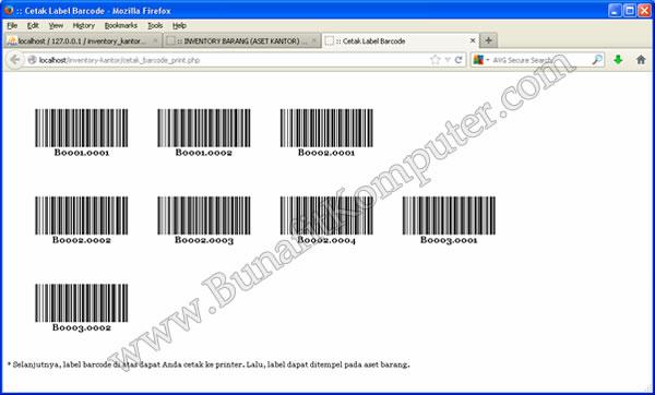 Sistem Informasi Inventarisasi Alat / Barang / Aset Kantor