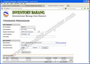 Program Transaksi Pengadaan Alat Barang Aset Kantor
