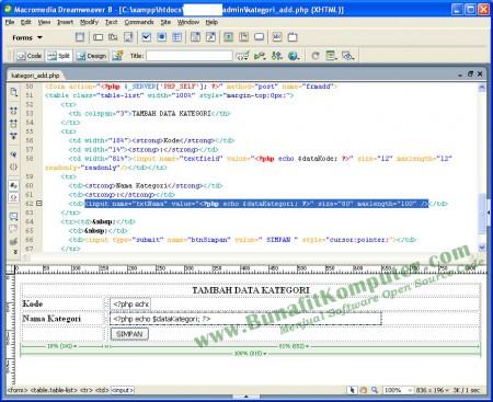 Sistem Informasi Penjualan Online E-Commerce berbasis Web dengan PHP dan Dreamweaver