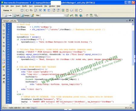 Sistem Informasi Toko Online E-Commerce dengan PHP dan Dreamweaver