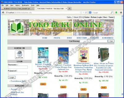 Katalog Buku 1 atau Katalog Produk Barang. Saat website diakses, maka semua koleksi buku ditampilkan dan dikelompokan dalam beberapa Pages(halaman).