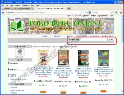 Pencarian Buku pada Katalog