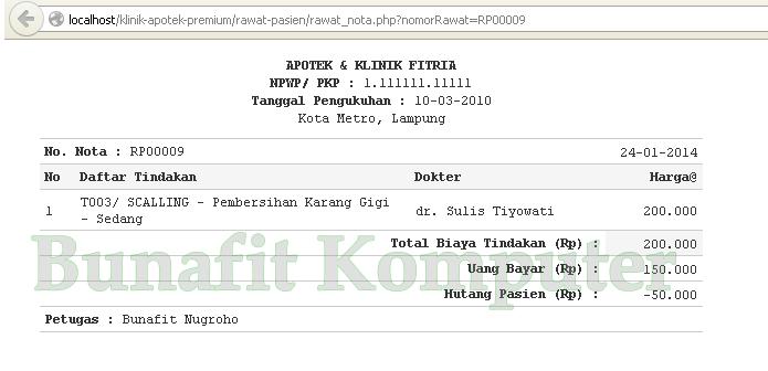 Source Code Program Rawat Jalan Bunafit Komputer