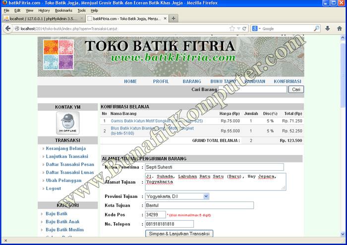 Sistem Informasi Penjualan Online Berbasis Website E Commerce Toko