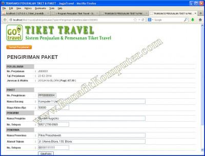 Transaksi Pengiriman Paket Barang, dengan harga paket dapat dinegosiasi di tempat, atau oleh Sopir.