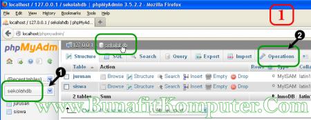 Mengganti Nama Database MySQL dengan phpMyAdmin