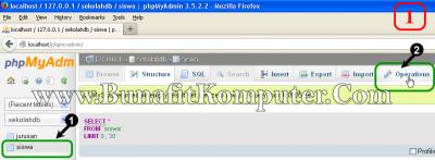 Mengubah Nama Tabel MySQL dengan phpMyAdmin 1