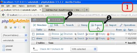 Panduan Export Database MySQL dari phpMyAdmin