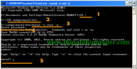 Panduan Menjalankan MySQL dari Command Prompt