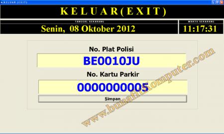 Sistem Informasi Parkir dengan Visual Basic - PINTU KELUAR