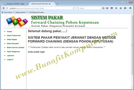 Program Sistem Pakar Forward Chaining Pohon Keputusan Decision Tree