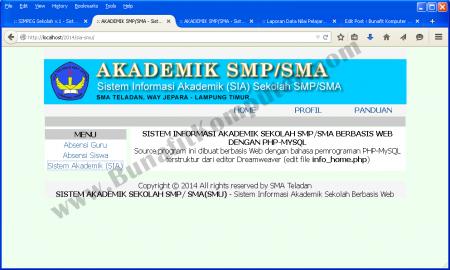 Sistem Informasi Akademik Sekolah Berbasis Web dengan PHP dan MySQL