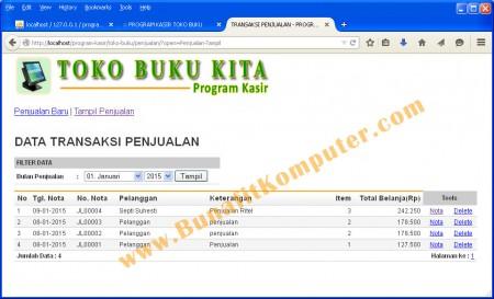 Program Manajemen Transaksi Penjualan