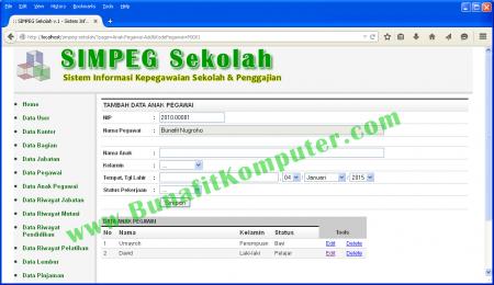 Program Skripsi Sistem Informasi Kepegawaian Berbasis Web