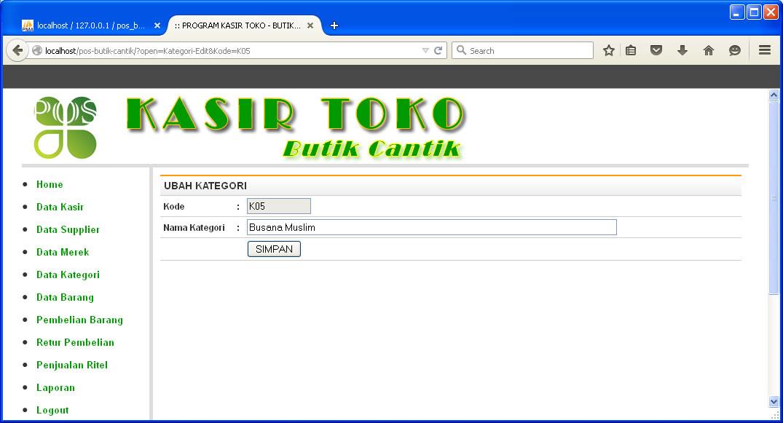 Source Code Php Penjualan Barang Bunafit Komputer