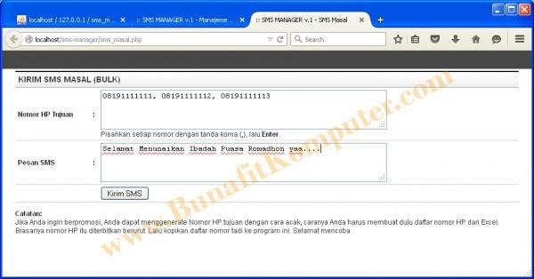 Kirim SMS Masal Nomor Pilihan - Software Mesin SMS Masal untuk Kantor dan Promosi Iklan Usaha
