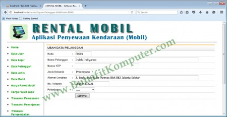 Program Simpan Data Pelanggan