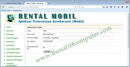 Program Simpan Data Sopi