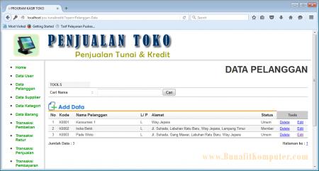Manajemen Data Pelanggan