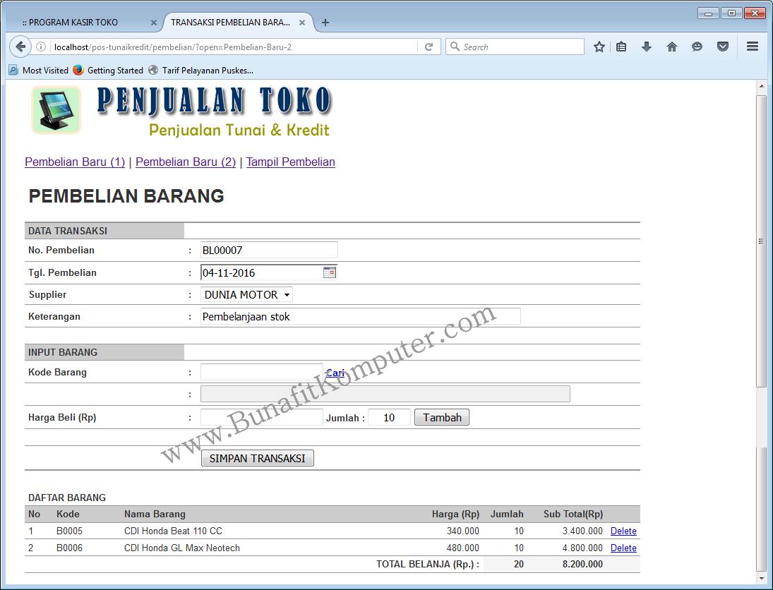 Download aplikasi penjualan