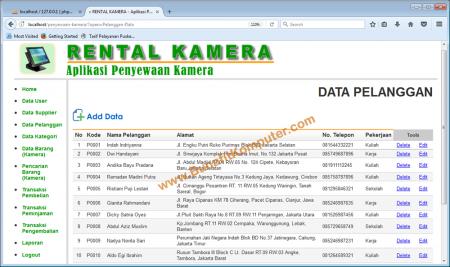 halaman-manajemen-data-pelanggan-pada-aplikasi-rental-kamera