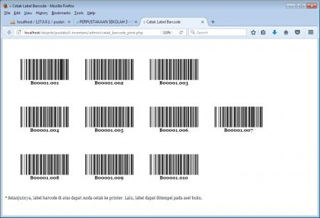 Cetak Label Barcode Buku
