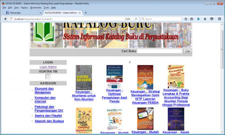 Katalog Buku Perpustakaan Sekolah dapat diakses oleh Siswa