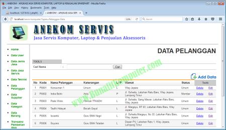 Sistem Informasi Jasa Service Software Hardware dan Penjualan dengan PHP dan MySQL