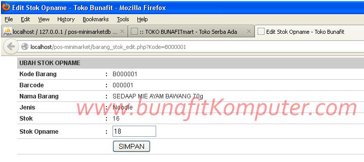 Software POS Minimarket - Kontrol Stok Opname 2